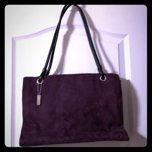 SAG HARBOR BAG DARK MAROON SUEDE LIKE NEW